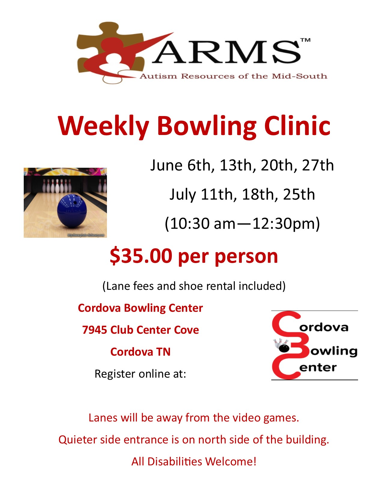 ARMS Bowling Clinic