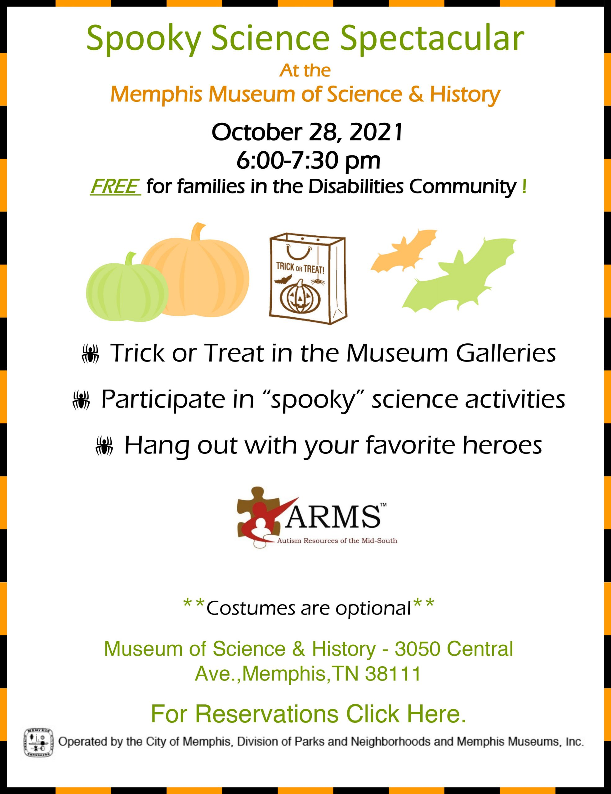 Spooky Science Spectacular Flyer