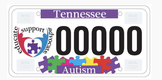 Autism License Plate